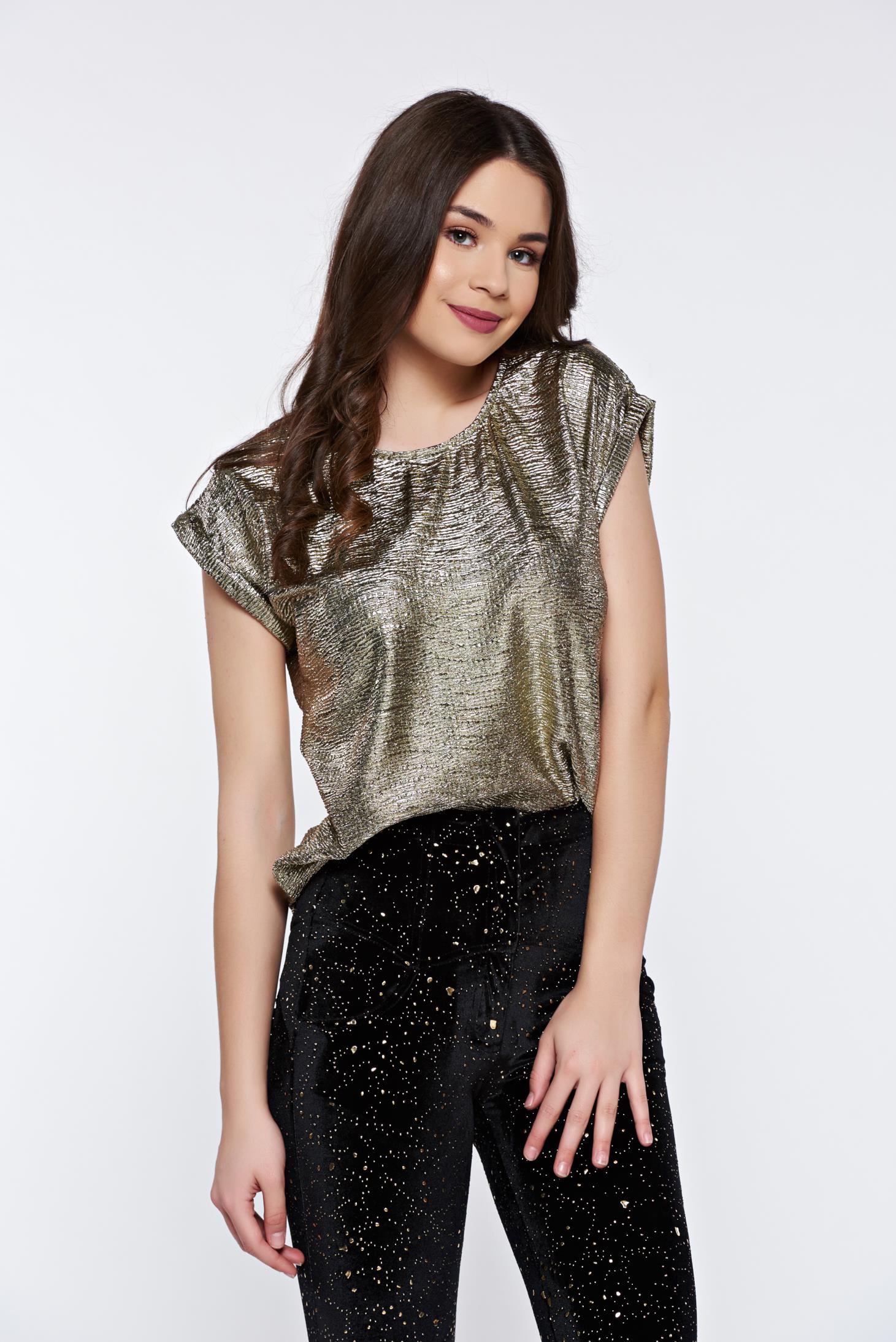 507d288d2f Arany Top Secret bő szabású party női blúz fémes jelleggel