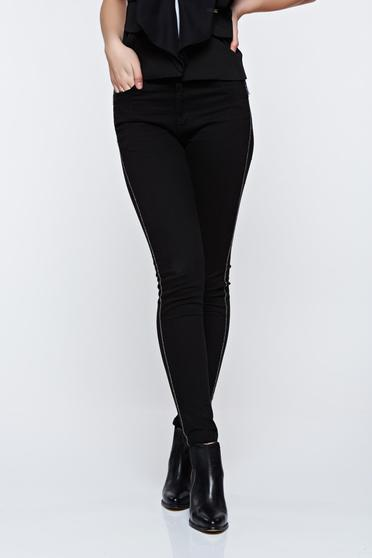 Top Secret black trousers casual conical with medium waist with pockets
