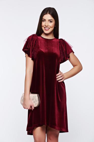 StarShinerS burgundy dress occasional flared velvet