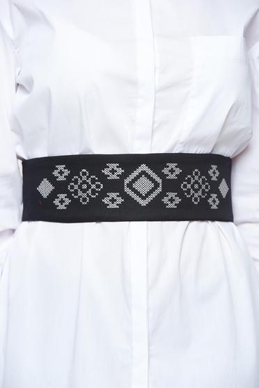 StarShinerS black belt with laced details embroidered