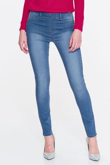 Top Secret blue skinny jeans elastic cotton with medium waist