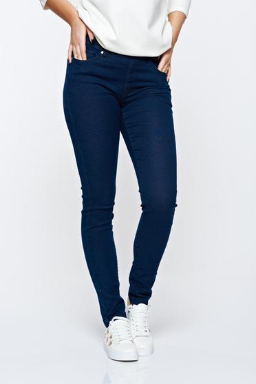 Top Secret blue jeans skinny jeans elastic cotton with front and back pockets