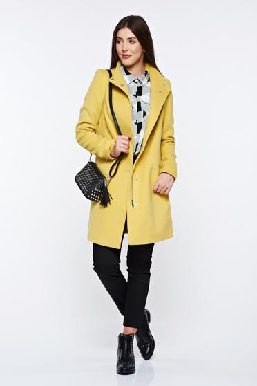 Top Secret yellow coat casual with pockets with inside lining