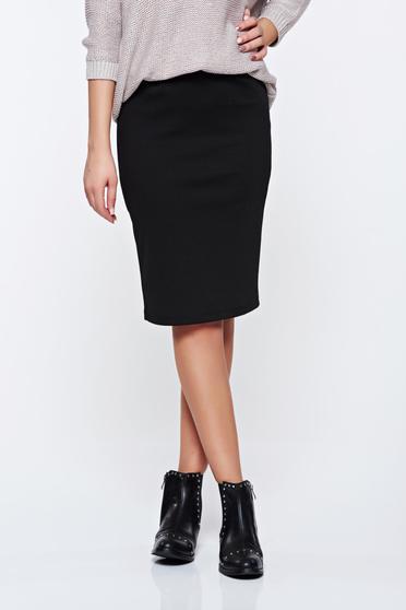 Top Secret black skirt office pencil with medium waist