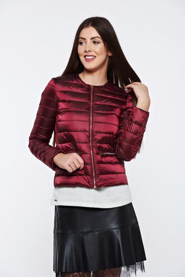 Top Secret casual short with inside lining burgundy jacket from slicker