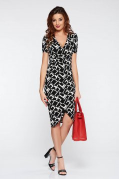 StarShinerS black dress daily with tented cut from elastic fabric