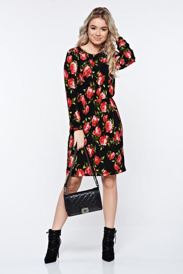 StarShinerS black dress daily flared with elastic waist