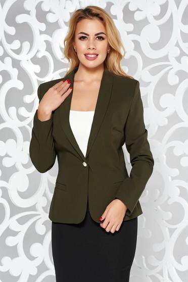 LaDonna khaki jacket basic with inside lining tented soft fabric