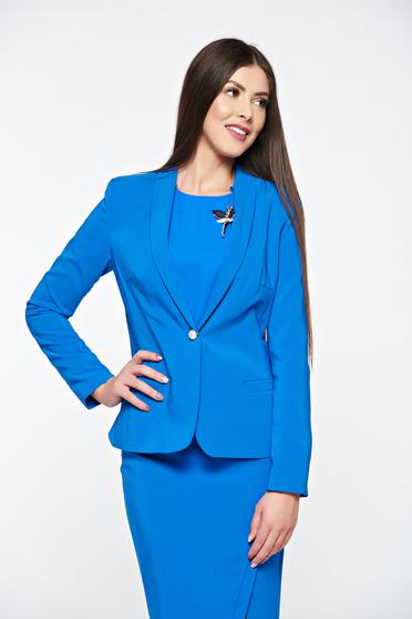 LaDonna blue jacket basic with inside lining tented soft fabric