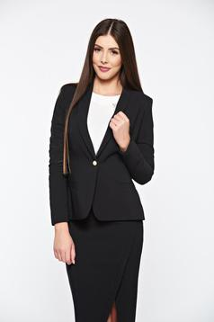 LaDonna black jacket basic with inside lining tented soft fabric