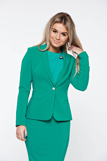 LaDonna green jacket basic with inside lining tented soft fabric