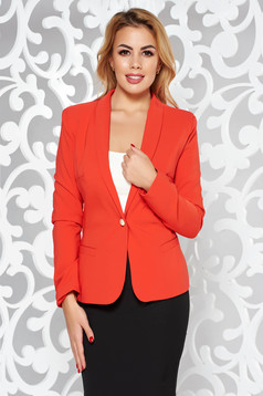 LaDonna red jacket basic with inside lining tented soft fabric