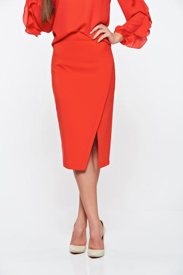 LaDonna office with inside lining red skirt slightly elastic fabric