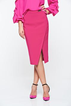 LaDonna office with inside lining pink skirt slightly elastic fabric