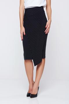 LaDonna black skirt office with inside lining high waisted