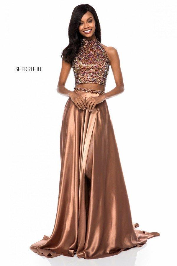 Rochie Sherri Hill 11330 copper