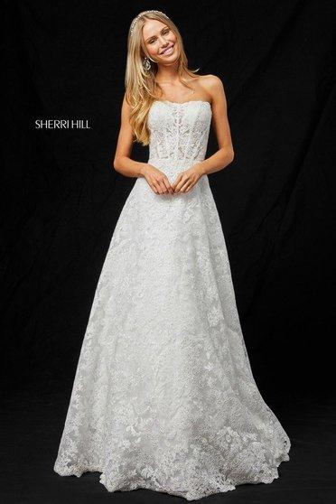 Sherri Hill 51572 White Dress