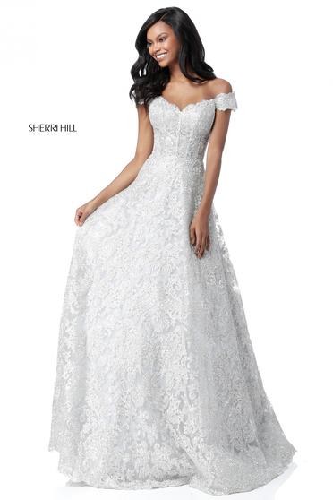 Sherri Hill 51573 White Dress