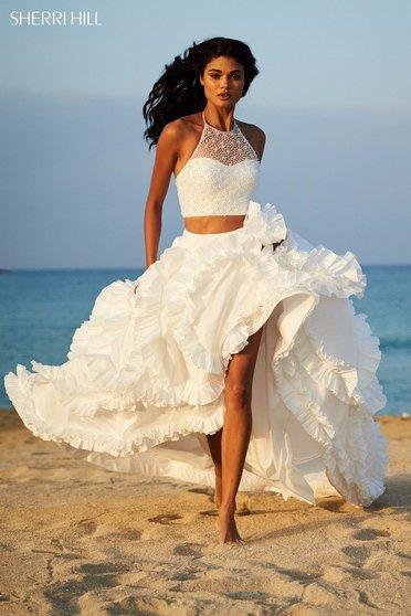 Sherri Hill 51577 White Dress