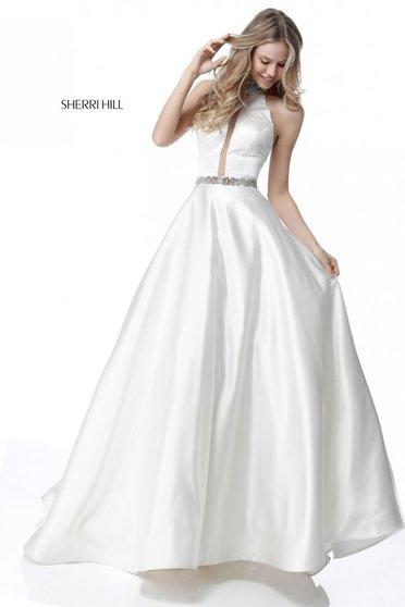 Sherri Hill 51589 White Dress