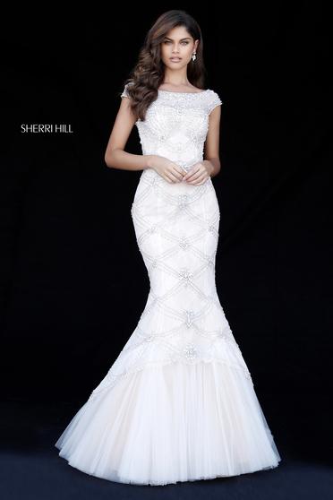Sherri Hill 51593 White Dress