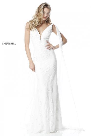 Sherri Hill 51599 White Dress