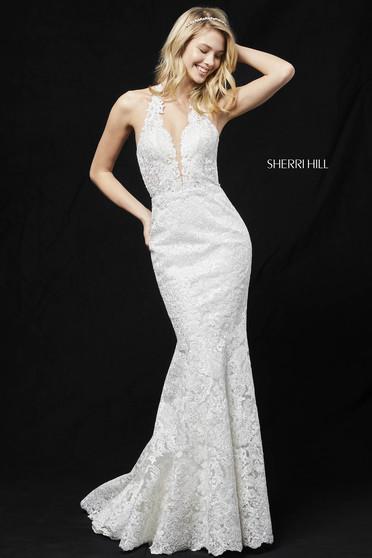 Sherri Hill 51616 White Dress