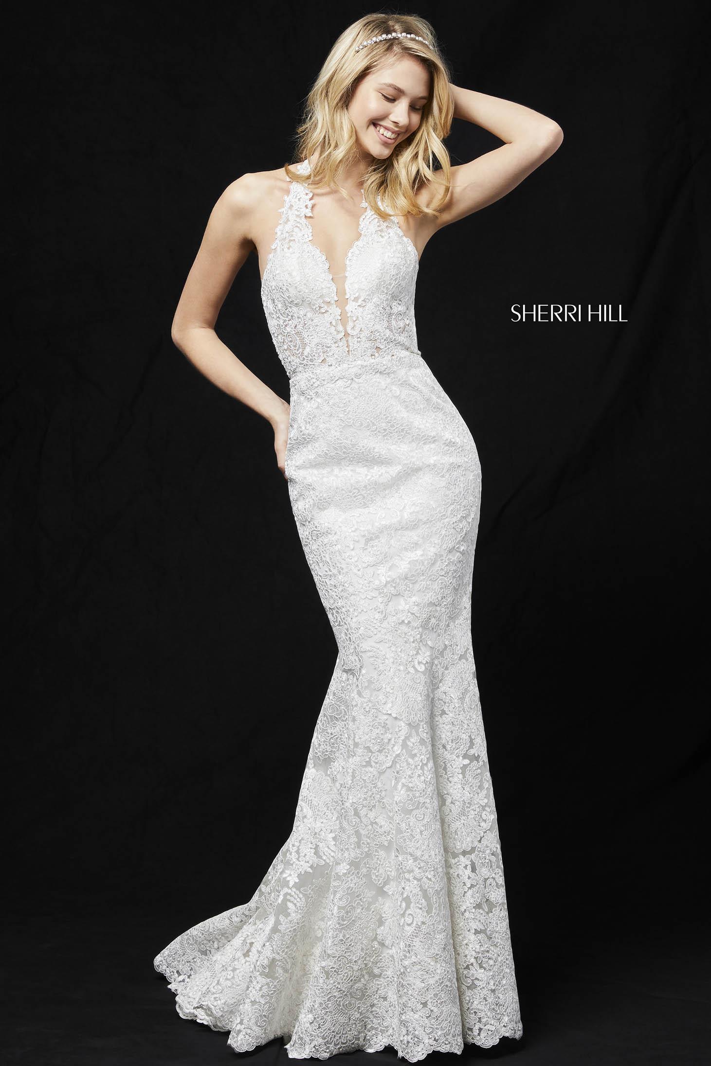 Rochie Sherri Hill 51616 White