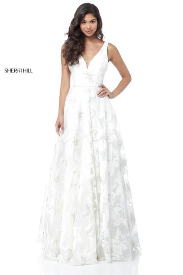 Sherri Hill 51628 White Dress