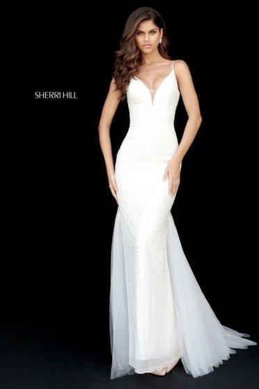 Sherri Hill 51645 White Dress