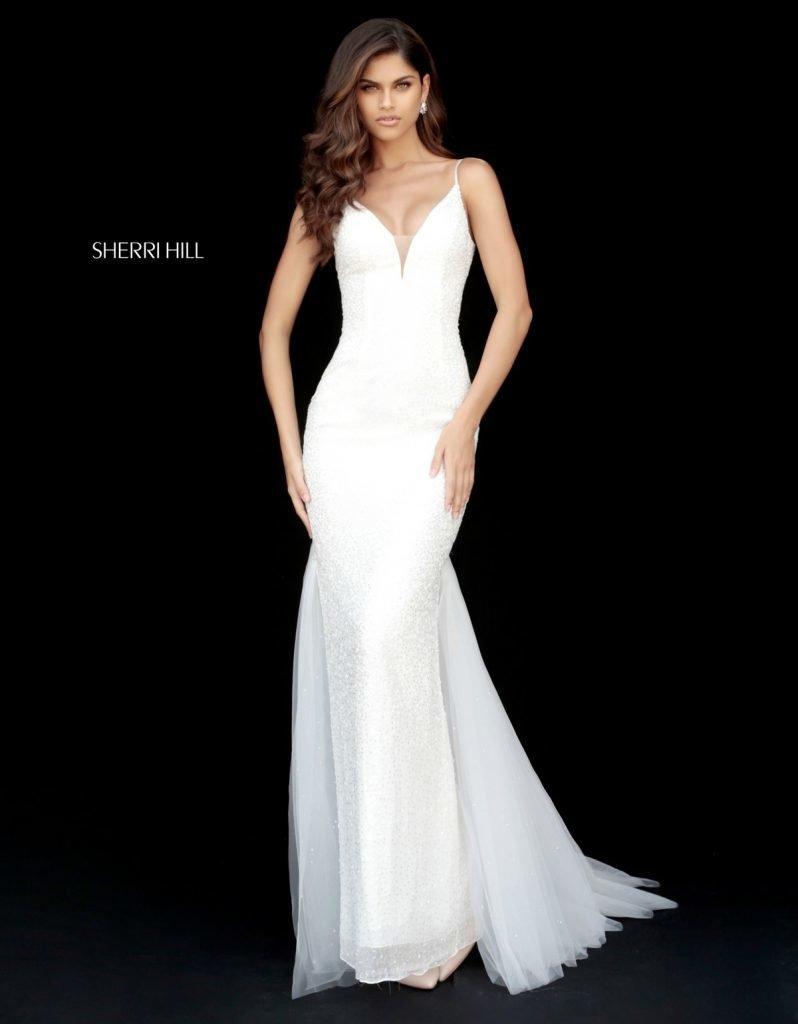 Rochie Sherri Hill 51645 White