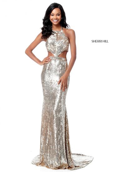 Sherri Hill 51663 Gold Dress