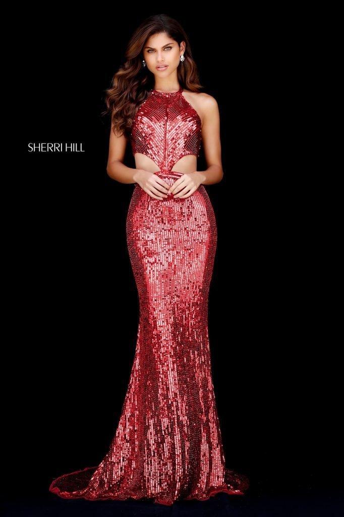 Rochie Sherri Hill 51663 Red