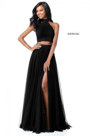 Sherri Hill 51721 Black Dress