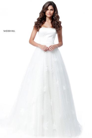 Sherri Hill 51672 White Dress