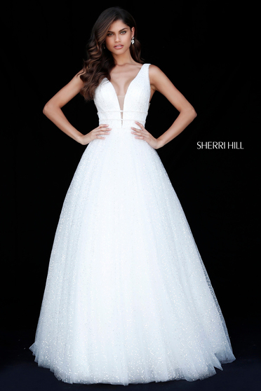 Sherri Hill 51676 White Dress