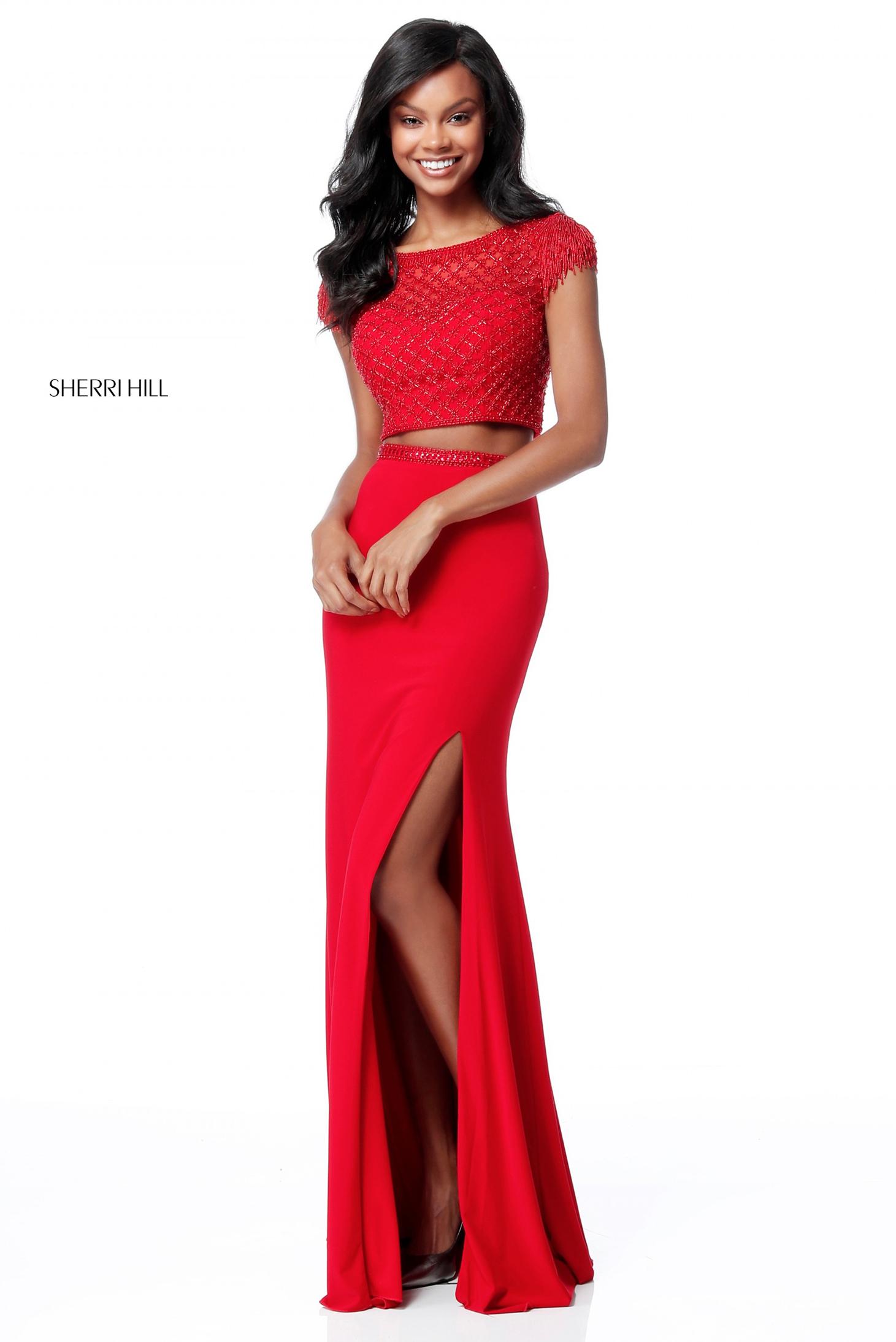 Rochie Sherri Hill 51691 Red