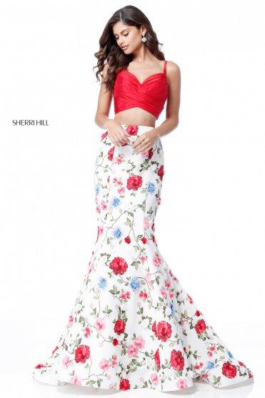 Sherri Hill 51710 White Dress