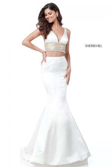 Sherri Hill 51711 White Dress
