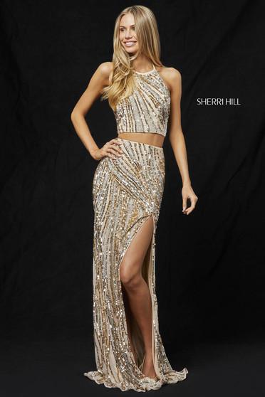 Sherri Hill 51737 Gold Dress