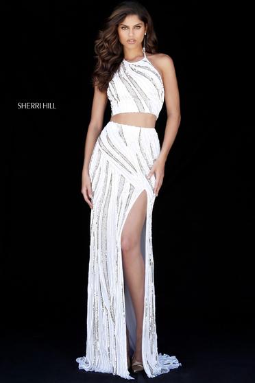 Sherri Hill 51737 White Dress