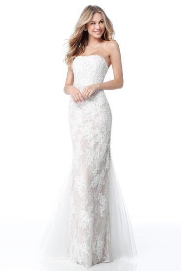 Sherri Hill 51769 White Dress