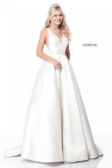 Sherri Hill 51856 White Dress