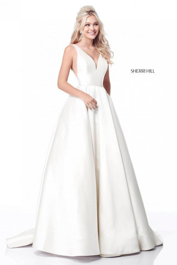 Rochie Sherri Hill 51856 White