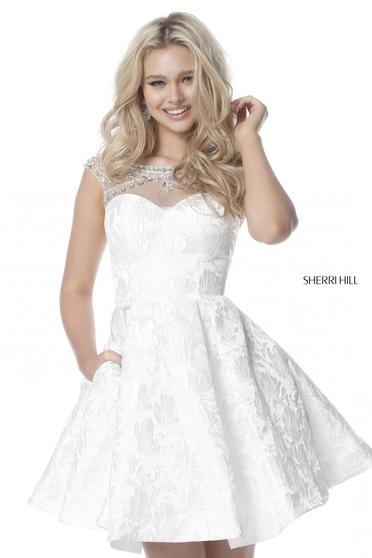 Sherri Hill 51878 White Dress