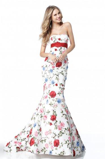 Sherri Hill 51882 White Dress