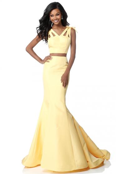 Sherri Hill 51918 Yellow Dress