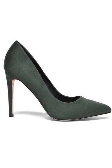 Top Secret khaki shoes with high heels slightly pointed toe tip