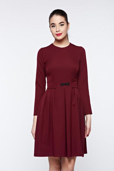 Artista burgundy dress office cloche slightly elastic fabric