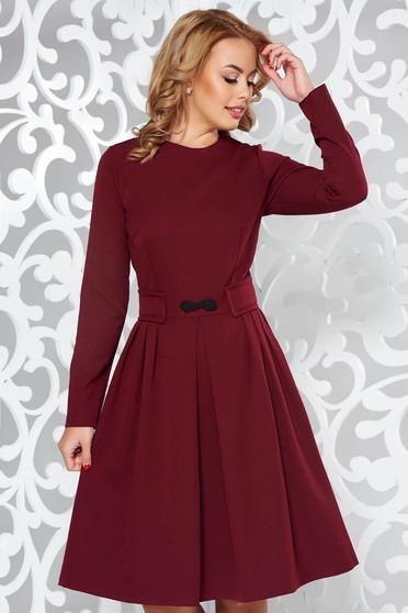 Artista burgundy office cloche dress slightly elastic fabric